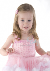Pink with white trim Tutu Dress